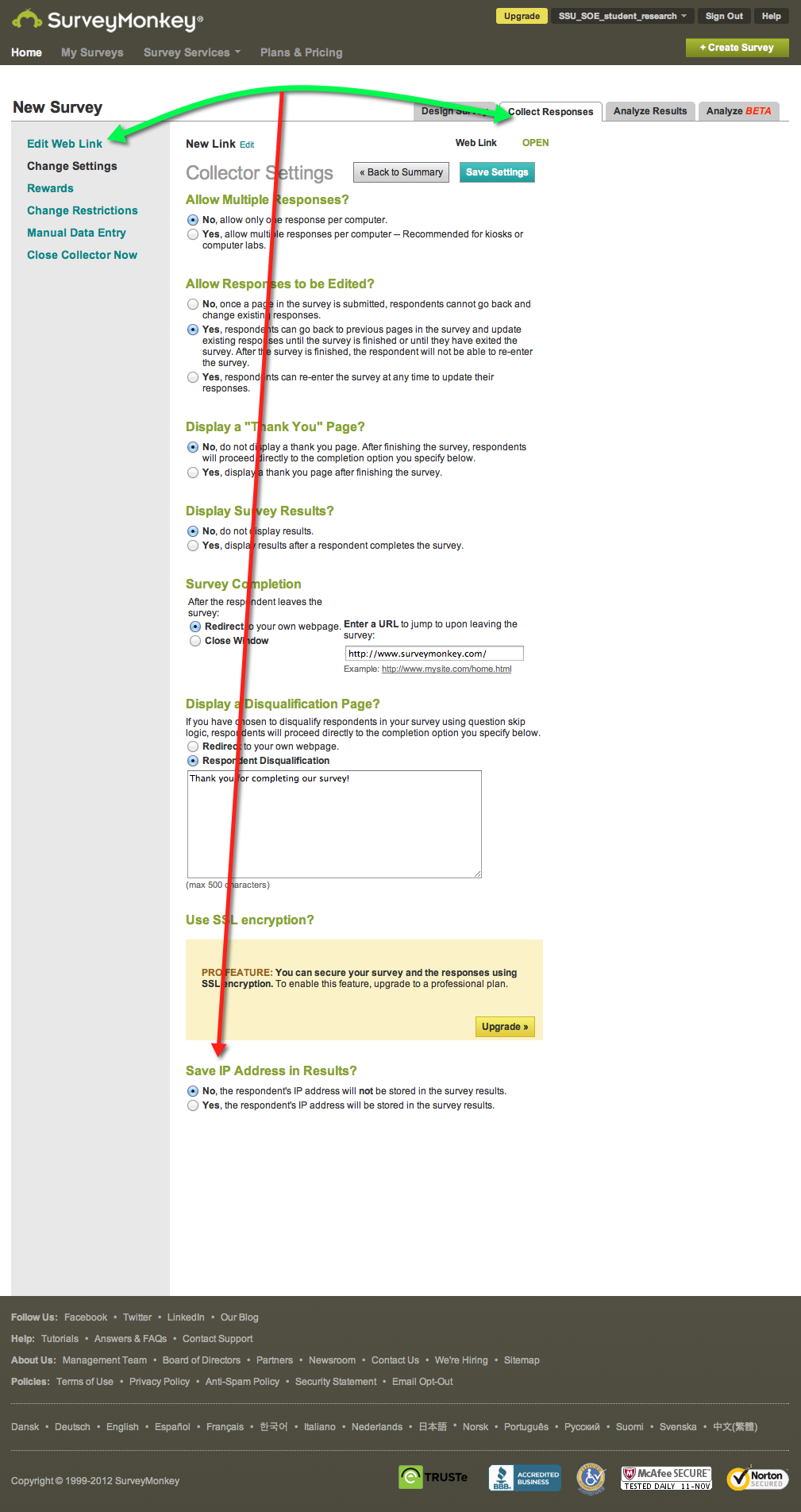Guidelines for SurveyMonkey and Inviting Participants
